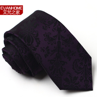 High Quality 7cm Tie Male Formal Commercial Luxury British Style Deep Purple Decorative Pattern L7051 Gift
