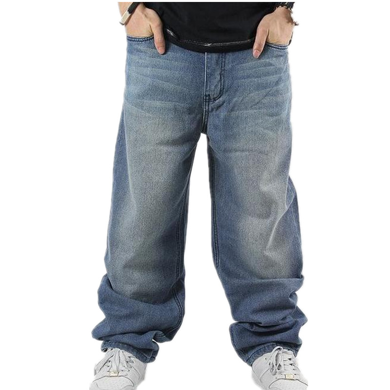 Image 4 - SHIERXI Man loose jeans hiphop skateboard jeans baggy pants denim pants hip hop men ad rap jeans 4 Seasons big size 30 46-in Jeans from Men's Clothing