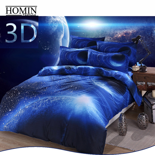 Microsoft polyster cotton hipster galaxy bedding set for Outer space themed fabric