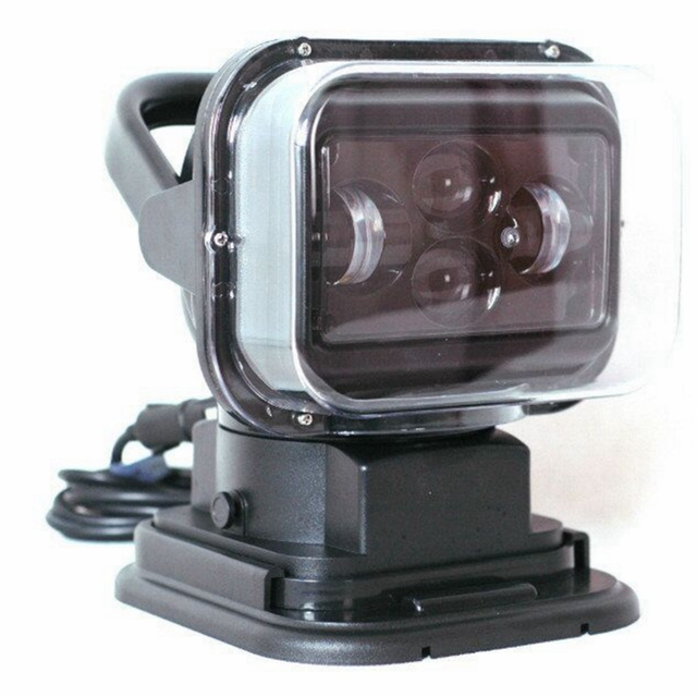 Rotating Remote Control LED Search Light Wireless Working Lamp Emergency Construction Lights for Boat Off road Car SUV Camping