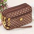 Excellent Quality Fashion Women multi-function Canvas bag Clutch Bag Messenger Wave Zipper Bag Ladies Evening Party Bags Cheap