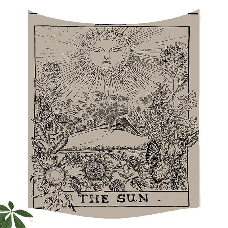 1pc Tarot Hanging Tapestries Sun Star Moon Tapestry Hippie Wall Hanging Blanket Wall <font><b>Carpet</b></font> Yoga Mat Home Decor YYY9693