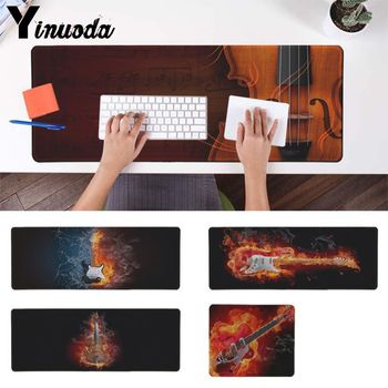 Yinuoda Your Own Mats fire in flames guitars Game Player desk laptop Mouse Mat DIY Design Pattern Computer gaming Mouse pad
