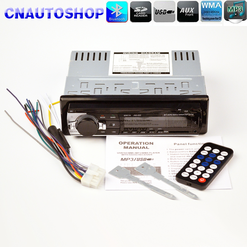 MP3 Player FM Car Radio Stereo Audio Music USB SD Digital Bluetooth with In Dash Slot AUX Input apps2car usb sd aux car mp3 music adapter car stereo radio digital music changer for volvo v70 1999 2007 [fits select oem radio]