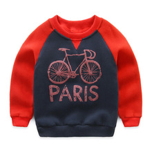 Baby Bike Sweater 2018 Autumn Winter New Children's Clothing Children Clothing Fleece Jacket Pullover Hoodies Kids Sweatshirts