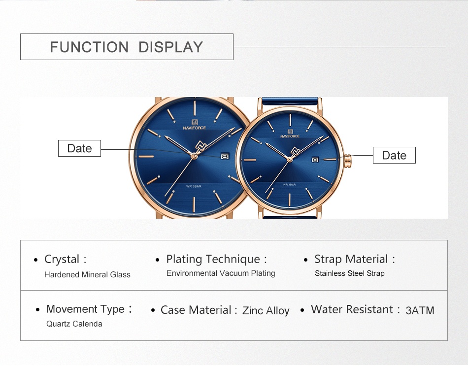 NAVIFORCE New Stylish Women Watches Top Brand Luxury Stainless Steel Strap Quartz Wristwatch For Woman Bracelet Watch 2019 Gift  (4)