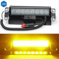 Автомобильные 8 Вт 8 светодиодных автомобилей Полиция наживается фонарики автомобильного трафика сигнальная лампа красный, белый желтый дл...