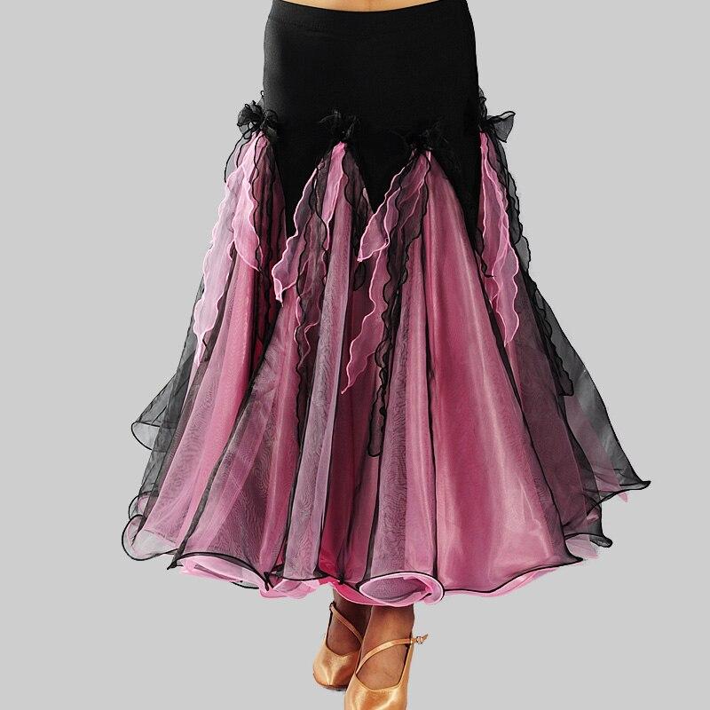 Newest Modern Dance Skirt For Ladies Professional Women Spanish Flamenco Classical Elegant Competitive Ballroom Fashion N4009