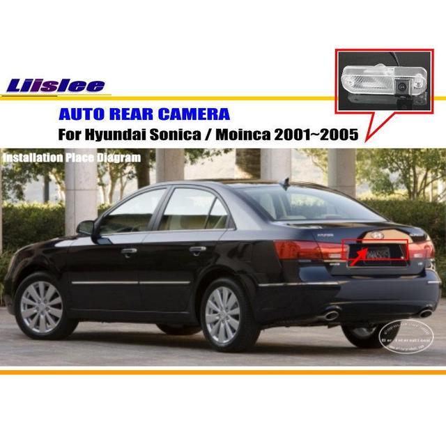 Tylna kamera samochodowa do Hyundai Sonica Moinca 2001-2005 podgląd widoku z tyłu kamery tanie i dobre opinie Liislee CN (pochodzenie) Plastikowe + Szkło Drutu Pojazd backup kamery Z tworzywa sztucznego