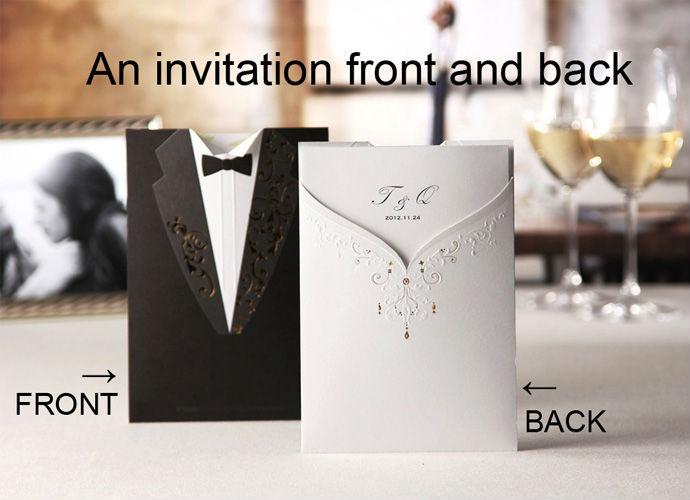 1 Set Sample Wedding Invitations Card +1 Envelope +1 Card +1 Seals