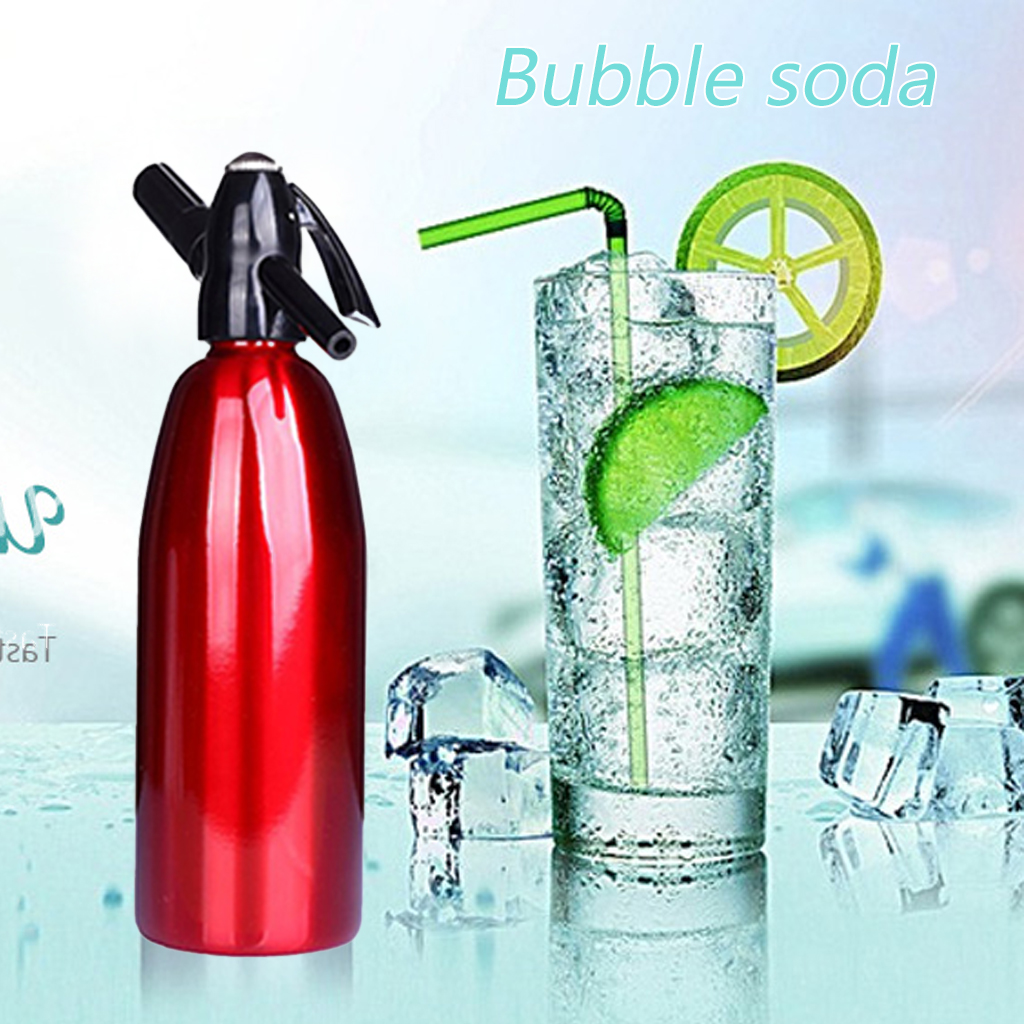 Soda Wasser Siphon Hause Trinken Saft Maschine Bar Bier Soda Siphon Maker Stahl Flasche Soda Stream Schaum Zylinder Co2 Injektor