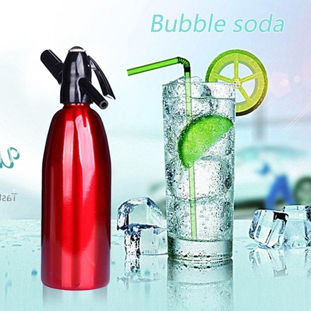 Soda agua sifón hogar bebida máquina de jugo Bar cerveza Soda sifón fabricante de acero botella Soda Flujo de espuma cilindros Co2 inyector