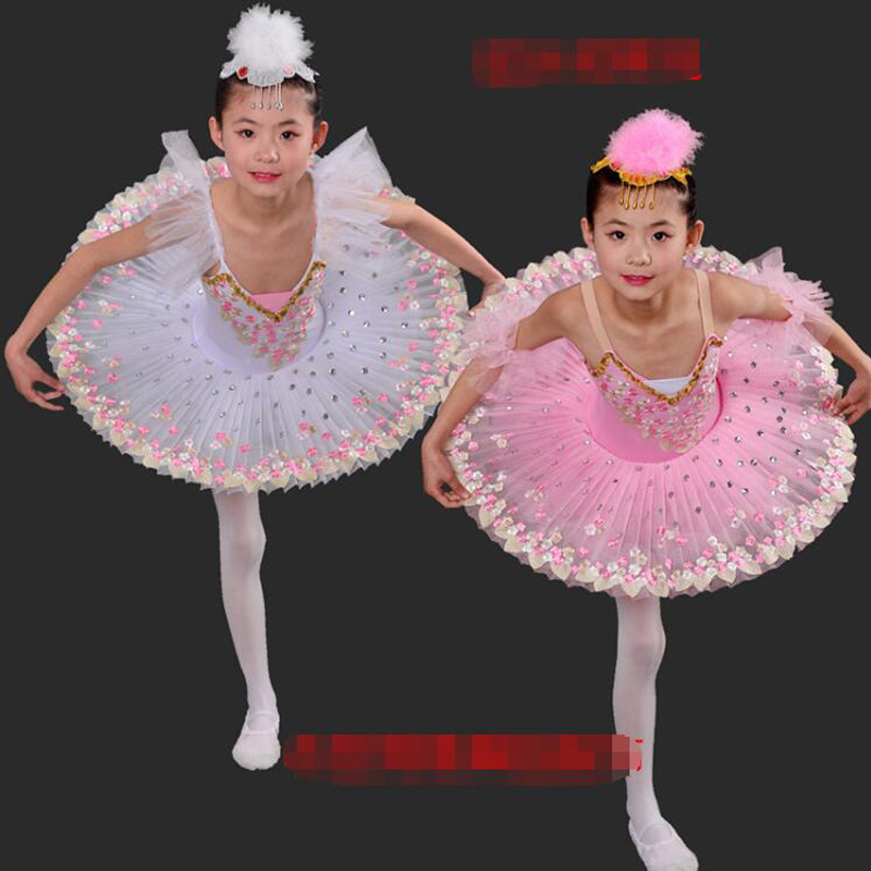 Ballet professionnel Tutus enfant lac des cygnes robe de danse de Ballet Costumes filles tutu robe ballerine robe de patinage artistique tenue