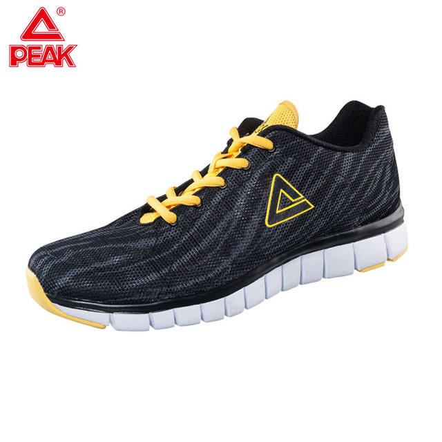 PEAK Knit Running Shoes for Men Breathable Outdoor Sport Trainers ... 4f2a66d9ae17