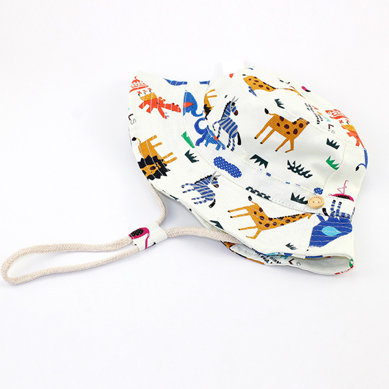 baby & kids girls boys summer fashion fold-over bucket play hats children fashion cotton casual sun hat holiday caps