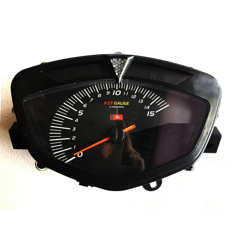 80MM LCD Digital Odometer Speedometer Tachometer For Motorcycle With Dual Range 7 Color Screen Odometer