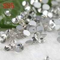Alto brilho não strass hot fix 1440 pcs ss5 1.7-1.8 MM de Cristal cola costas no pedras de strass