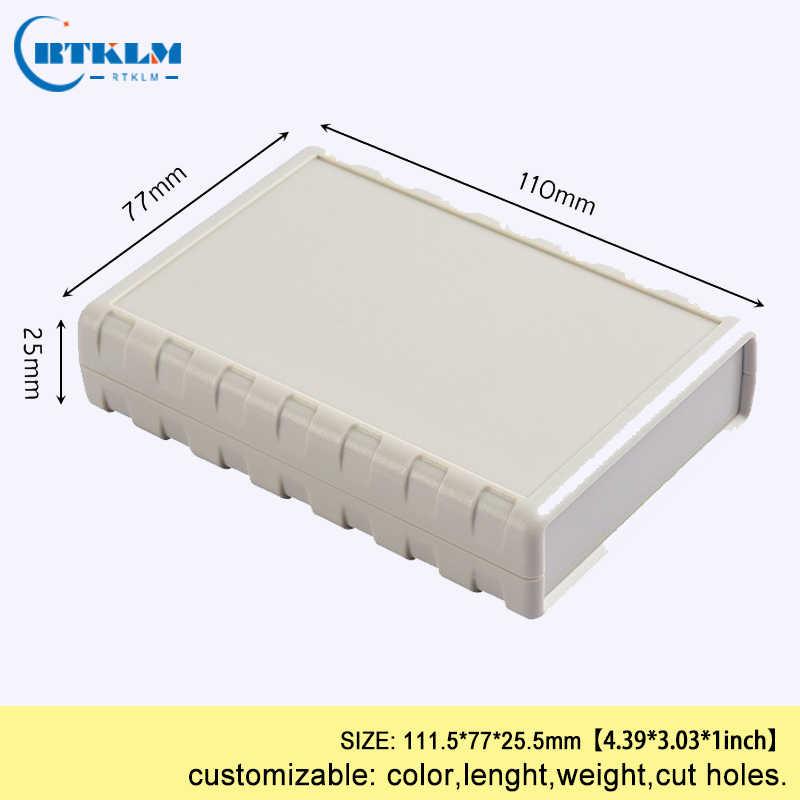 Tủ Nhựa Nhà Ở Cho Thiết Bị Điện Tử Nhựa Abs Dự Án Hộp Nối Tự Làm Hộp Đựng Dụng Cụ Máy Tính Để Bàn Vỏ 111.5*77*25.5mm