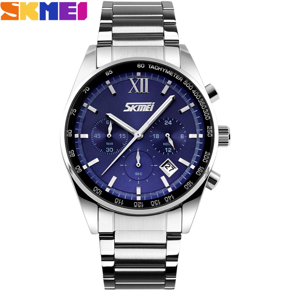 SKMEI 2017 New popular Brand Men fashion casual Watches analog quartz watch waterproof auto date chronograph