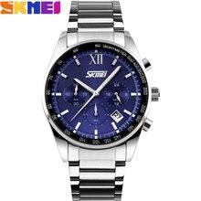 SKMEI 2017 Nouveau populaire Marque Hommes mode casual Montres analogique quartz montre étanche auto date chronographe en acier inoxydable