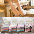 5 Pair Fashion Women Winter Thicken  Socks Warm Cotton Blend Deodorant Sweat Candy Middle Socks Student Girl Sock (No Boxes )