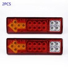 Высокое качество 2 шт. 12 В светодиодный задние фонари лампы 5 Функция для прицепа каракана грузовик 19 светодиодный прицеп огни Светодиодный стоп-сигналы