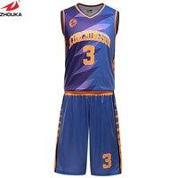 full sublimation OEM team jerseys basketball reversible basketball cheap custom uniforms