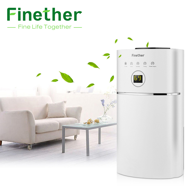 Awesome Finether DS01A 01 2.4L Capacity Digital Air Dehumidifier Anion UV Low  Energy Air Purify