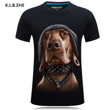 New 2018 Summer Fashion Cool Dog Design Print 3d T Shirt O-neck Men's High Quality Animal Tops Hipster Hip Hop Casual Brand Tee(China)