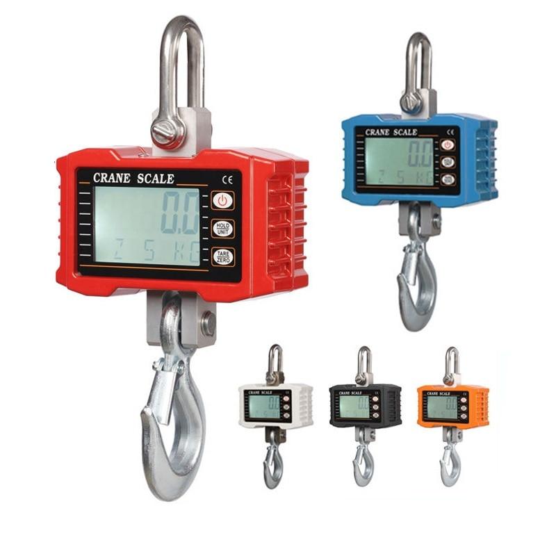 Hot 1000kg 1T Digital Crane Hanging Scale Heavy Duty Industrial LCD Digital Display Hanging Hook Crane Scale цена