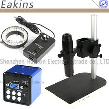 Best price 2MP HD Digital VGA Industrial Microscope Camera for Industry Lab + 200X HD C Mount Lens + Table Stand Holder + 60 LED Light