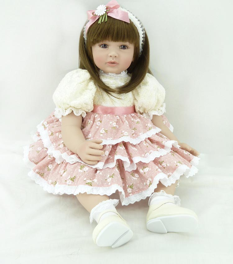 Popular vinyl silicone reborn baby dolls accompany lifelike princess toddler doll kid high-end christmas new year boutique gifts sd bjd plastic lifelike princess girl doll dressing exercise doll for kids high end christmas new year gift boutique collection