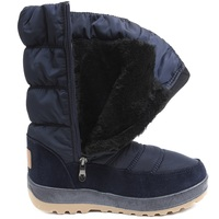 UKNIKI Zip Shoes Women Boots Winter Snow Boots With Short Plush Mid Calf Boots