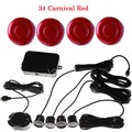 best selling Car Parking Sensor Kit 4 Sensors 44 colors to choose Reverse Backup Radar sound alert System 12V auto