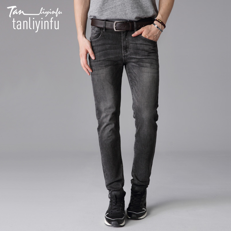 Tanliyinfu2017 spring and summer new high-quality cotton 98% 2% spandex, fashion Slim Straight jeans males