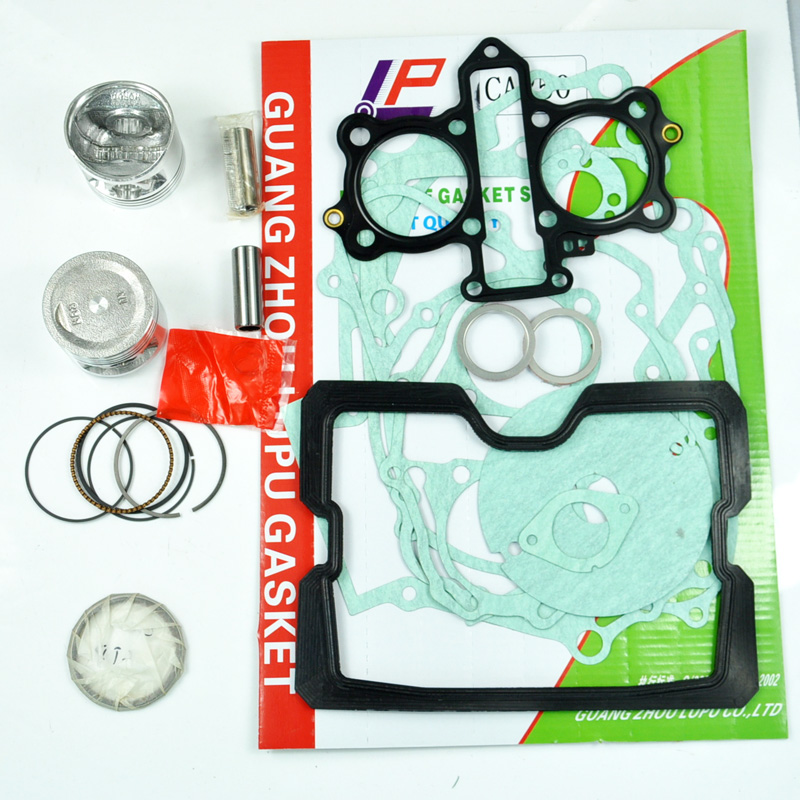 LOPOR For HONDA CA250 CA 250 Motorcycle GASKET AND PISTON STD KITS SET engine gaskets include cylinder paper kit set ahl motorcycle head cylinder gaskets engine starter cover gasket & oil seal kit for honda vt250 magna 250 racing replacement