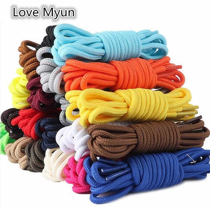 Round Colorful Shoelace Quality Polyester Solid Classic Unisex Shoelaces Casual Sports Shoes Boots Lace 70cm 90cm 120cm 150cm