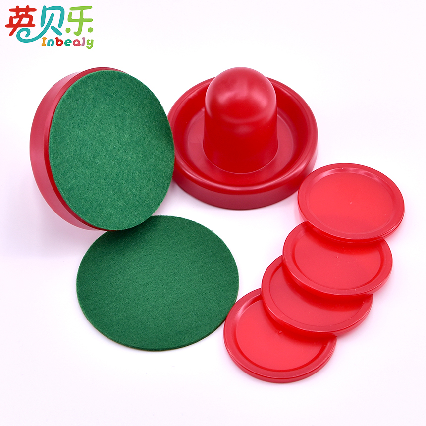 Air Hockey Accessories 76mm Goalies & 52mm Puck Felt Pusher Mallet Adult Interactive Tab ...