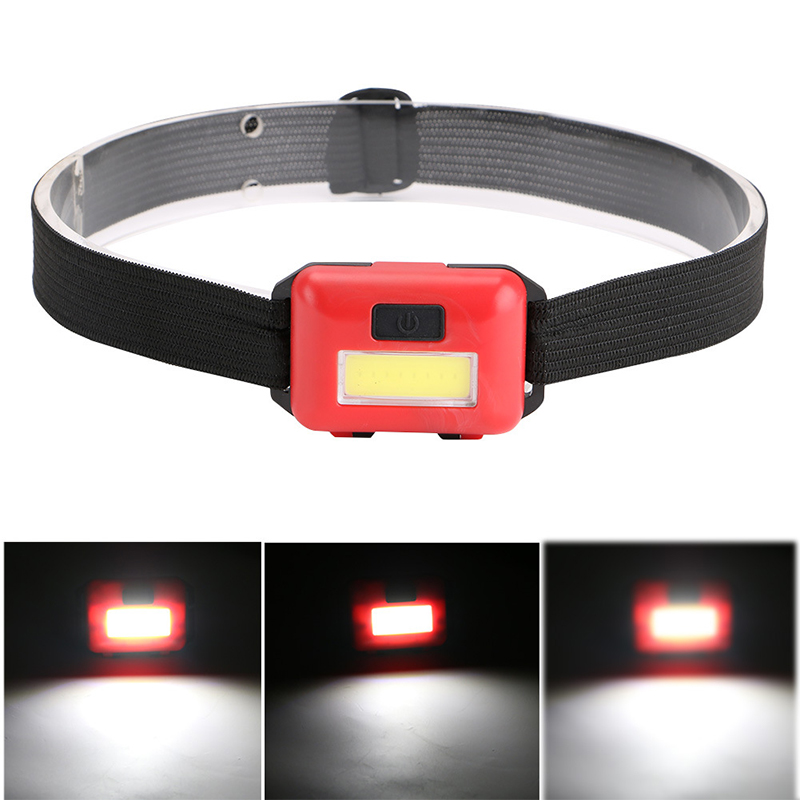 Outdoors Mini Headlamp 4 Modes Highlight Glare Waterproof COB LED Flashlight Emergency Lantern For Outdoor Activities A