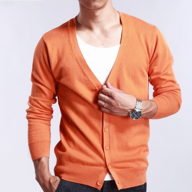 Autumn V Neck Mens Cardigan Sweater Overcoat Businessmen Thin Slim Fit Knitted  Sweater Full Sleeved Comfort 4e063832d