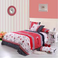 Bedding Free shipping 2017 children 3pcs Double bed sheet mill wool cotton sheet just student dormitory bed sheet pillowcase