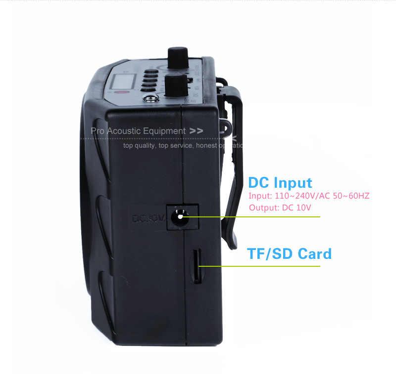 38 Вт Высокая мощность специальный усилитель для учителя Тур гид внешний голос Lound Динамик гарнитура микрофон Поддержка U диск/TF карта