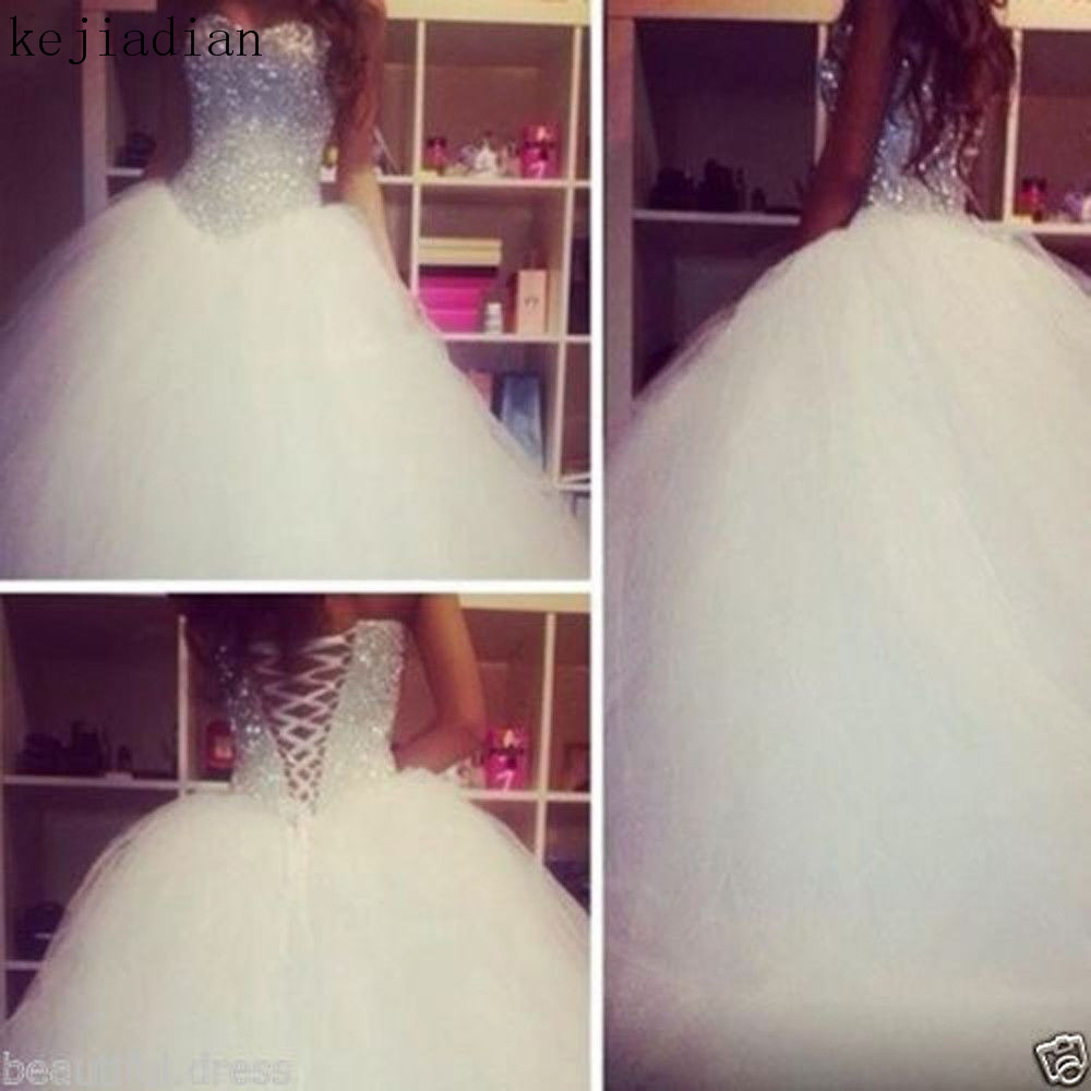 Buy bling ball gown wedding dress and get free shipping on AliExpress.com bd6ee1d4d519