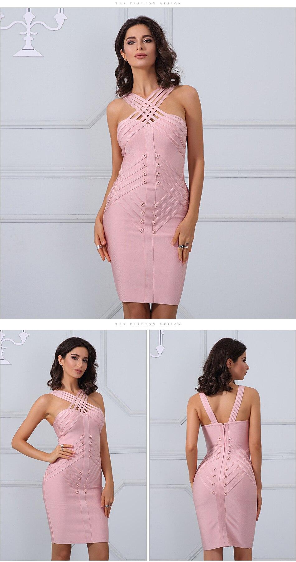 ▽Adyce 2017 verano elegante del vestido del vendaje atractivo de ...