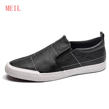 Man Microfiber Leather Shoes MEIL Brand Mens Loafers Men Outdoor Breathable Soft Designer High Quality 2019