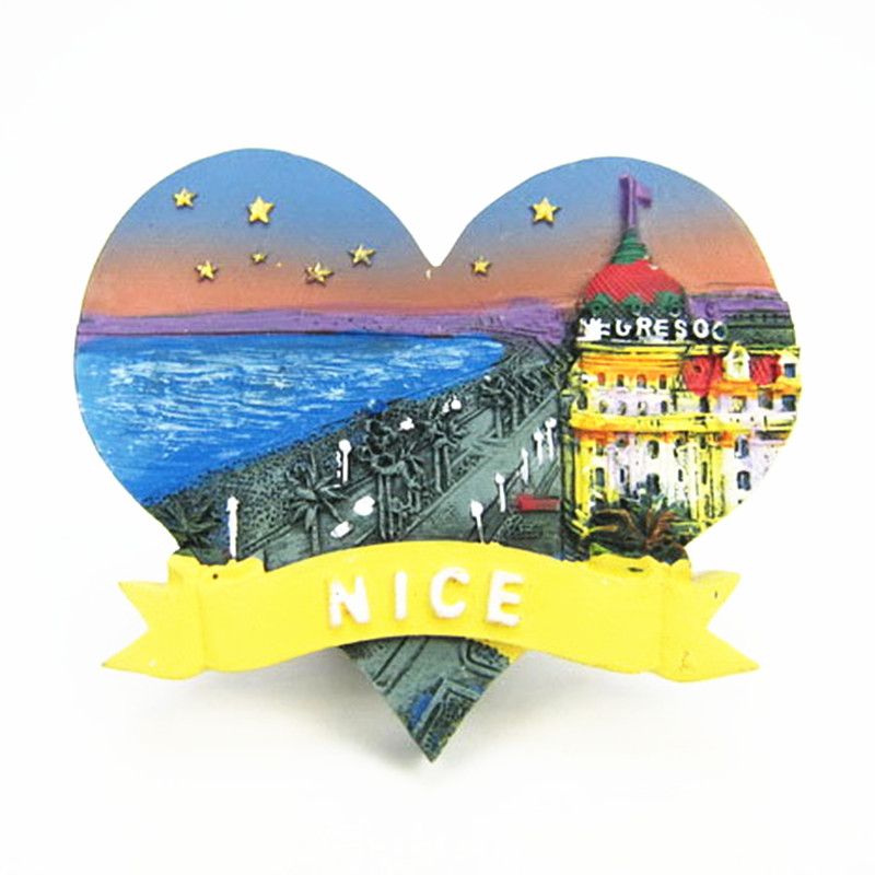 France Nice Promenade Des Anglais Hotel Negresco Tourist Travel Souvenir 3D Resin Decorative Fridge Magnet Craft GIFT IDEA
