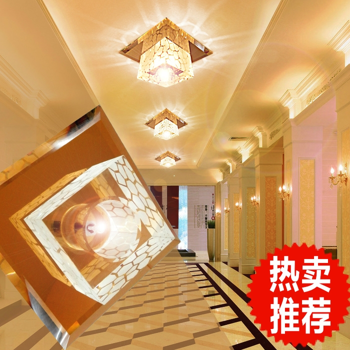 Led entrance light modern brief crystal lamp 3W led balcony ceiling light lamps for living room home decoration abajur lampshade 15w crystal led ceiling lights restaurant aisle living room balcony lamp modern led lighting for home decoration luminaire