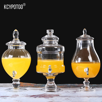5000ML European glass fruit juice jar for Suitable for all kinds of home holiday wedding parties the Drinks jar
