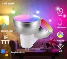 BOAZ-EC WiFi Smart GU5.3 Bulb Alexa Google Home and Siri Voice control color changing spotlight 5 W RGBW Spotlight Tuya 2pcs