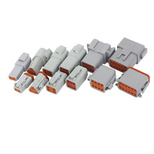 цена на 100 Sets DT series DT06/DT04 2/3/4/6/8/12 Pin Engine/Gearbox Waterproof Electrical Connector For Car,Bus,Motor,Truck